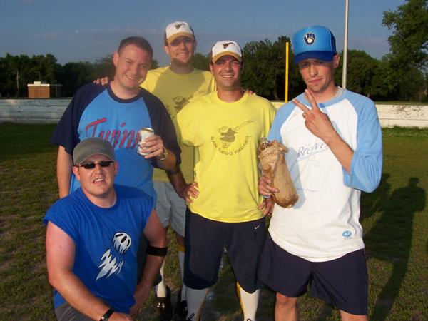 Westy with the 2005 Hopkins Fun Stars.  Also pictured:  Dutch, Nelson, Peeks and Joe.