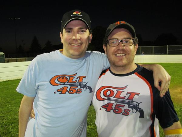 Westy and Dutch with the Colt .45's in 2012.